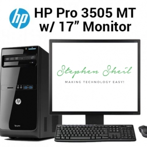 HP Pro 3505 MT with 17 Monitor
